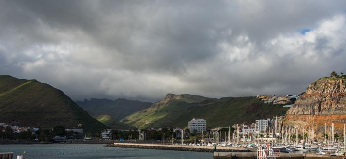 La Gomeras gröna berg