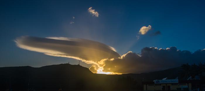 Härliga moln över La Gomera