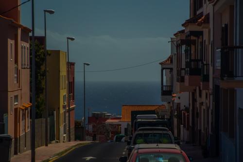 På väg ned mot San Sebastian