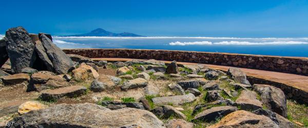 På Alto de Garajonay med Teide i öster...
