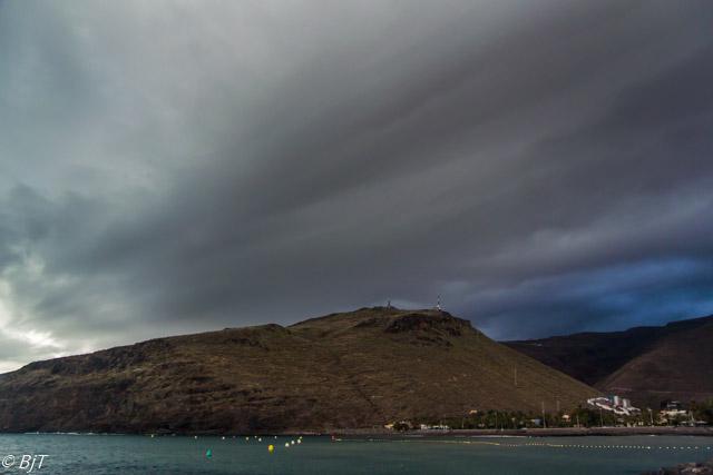 Dramatiskt väder över San Sebastian