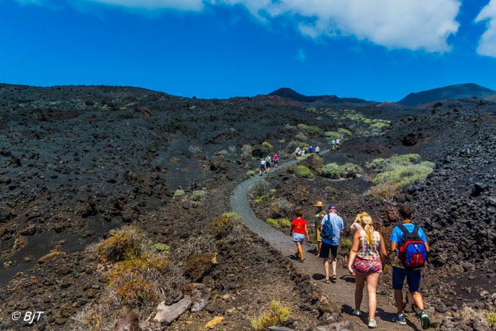 Vi vandra i vulkanlandskpet