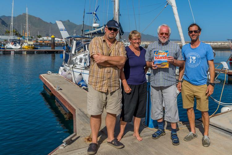 Besök av författarna till nya seglingsguiden för Kanarieöarna