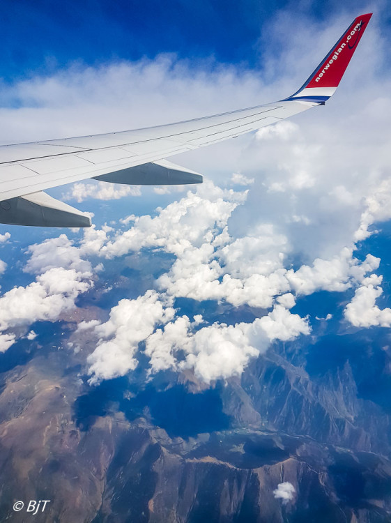 Flyger över Pyrenéerna